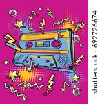 funky colorful drawn audio...   Shutterstock .eps vector #692726674