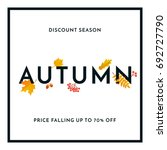 hello autumn sale text poster... | Shutterstock .eps vector #692727790