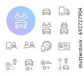 ridesharing icons | Shutterstock .eps vector #692727904