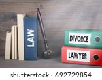 divorce and lawyer concept.... | Shutterstock . vector #692729854
