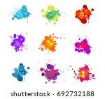 set colorful paint splash retro ... | Shutterstock .eps vector #692732188