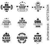 autumn sale logotypes set | Shutterstock . vector #692733634