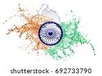 indian flag water splash design ...   Shutterstock . vector #692733790