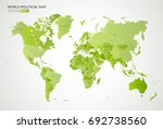 vector political map with the... | Shutterstock .eps vector #692738560