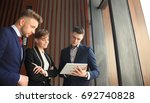 group of buisness people... | Shutterstock . vector #692740828