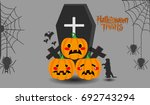 halloween vector illustration   Shutterstock .eps vector #692743294