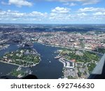 stockholm seen from helicopter | Shutterstock . vector #692746630