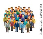 caucasian men community vector... | Shutterstock .eps vector #692759134