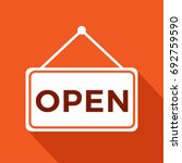 we are open sign with... | Shutterstock .eps vector #692759590