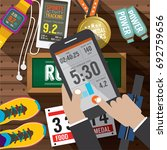 sport activity application in...   Shutterstock .eps vector #692759656