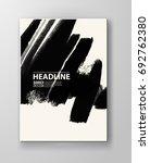 black abstract design. ink... | Shutterstock .eps vector #692762380