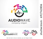 audio wave logo template design ... | Shutterstock .eps vector #692762806