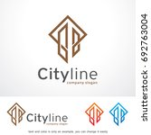 city line logo template design... | Shutterstock .eps vector #692763004