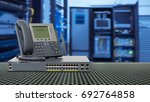 ip telephone and network switch ... | Shutterstock . vector #692764858