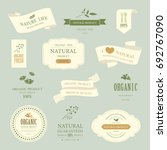 set of natural label and... | Shutterstock .eps vector #692767090