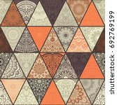 seamless colorful patchwork... | Shutterstock .eps vector #692769199
