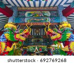 dragon statues of beautiful... | Shutterstock . vector #692769268