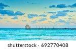 exotic beach  paradise   travel ... | Shutterstock . vector #692770408