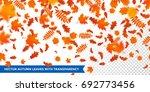 autumn falling leaves pattern... | Shutterstock .eps vector #692773456