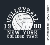 volleyball new york grunge... | Shutterstock .eps vector #692775094