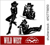 silhouettes of western cowgirls....