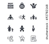 people  family icons. swimming  ... | Shutterstock .eps vector #692782168