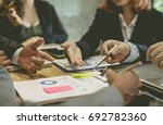 business people meeting time.... | Shutterstock . vector #692782360