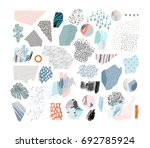 collection with hand drawn... | Shutterstock .eps vector #692785924
