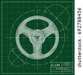 vector blueprint retro bobbin...   Shutterstock .eps vector #692788456