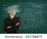 cloud headed  businessman with... | Shutterstock . vector #692788879