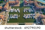 Aerial View Of Marina With...