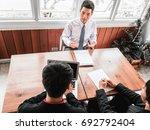 business situation job... | Shutterstock . vector #692792404