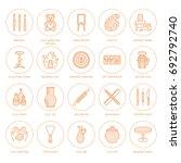 pottery workshop  ceramics... | Shutterstock .eps vector #692792740