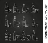 alcoholic drinks line icons  ...