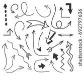 arrows big set   hand drawn...   Shutterstock .eps vector #692797636