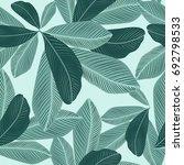 tropical jungle leaves seamless ... | Shutterstock .eps vector #692798533