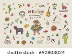 vector cartoon doodle... | Shutterstock .eps vector #692803024