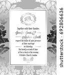 vintage baroque style wedding... | Shutterstock . vector #692806636