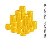 gold coins mountain cartoon... | Shutterstock .eps vector #692809870