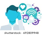 banner social listening. the... | Shutterstock .eps vector #692809948