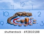 the concept of economic growth. ... | Shutterstock . vector #692810188