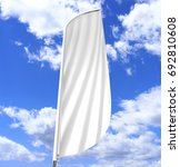 blank white convex feather flag ... | Shutterstock . vector #692810608