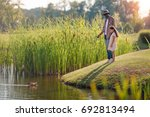 african american granddaughter...   Shutterstock . vector #692813494