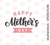 happy mothers day card with... | Shutterstock .eps vector #692814148