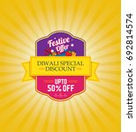 diwali festival offer template... | Shutterstock .eps vector #692814574