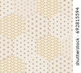 japanese pattern vector. gold... | Shutterstock .eps vector #692815594