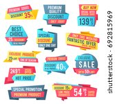 sale banners and price tag... | Shutterstock .eps vector #692815969