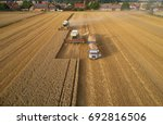 aerial view of combine... | Shutterstock . vector #692816506