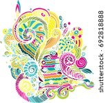 abstract decoration  shell ... | Shutterstock .eps vector #692818888