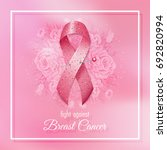 Breast Cancer Pink Ribbon With...